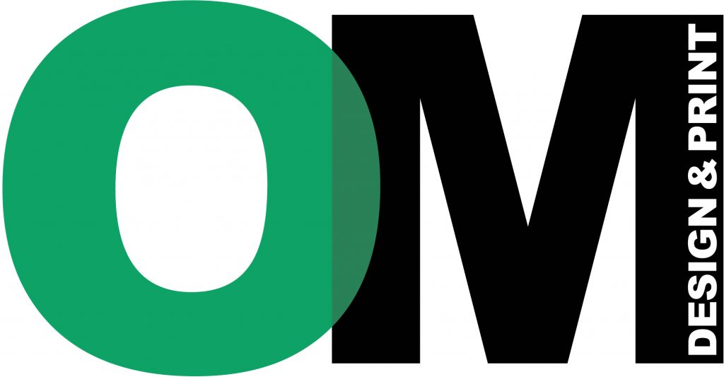 om design & print advertising logo